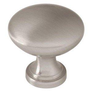 Standard Knob (Flatter top), Satin Nickel, 30mm