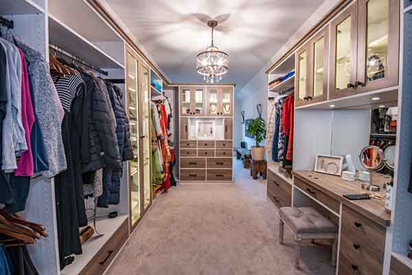 Custom Walk-In Closet built by The Closet Works Inc