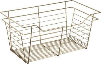 Slide-Out Basket, Matte Gold