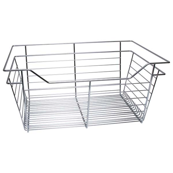 Slide-Out Basket, Polished Chrome