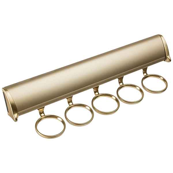 Synergy Scarf Rack, Matte Gold
