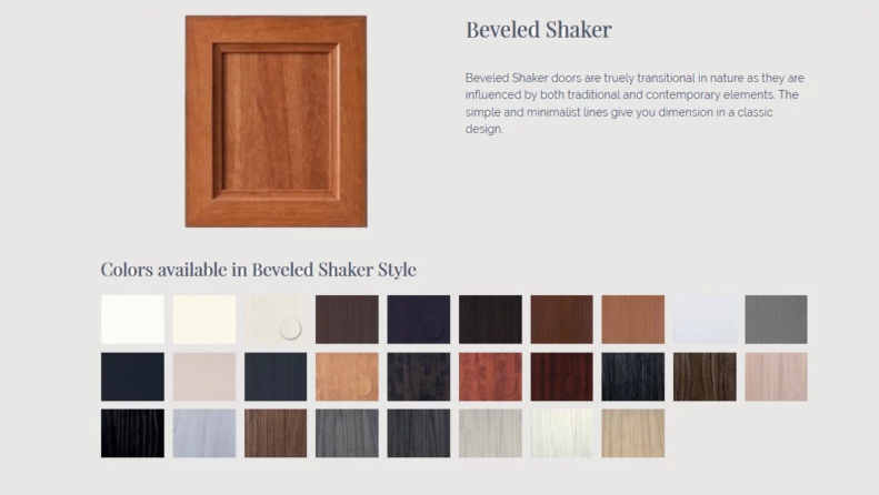 Sample drawer and front styles for custom cabinets and wall bed