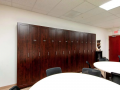 Lunchroom with custom matching locker furniture