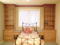 Bedroom with traditional style bedroom furniture custom built