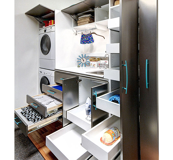 Laundry room design with customized features