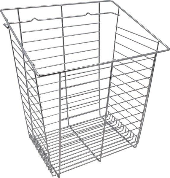 Tilt-Out Hamper Basket, Polished Chrome