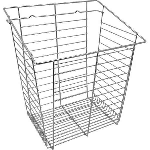 Tilt-Out Hamper Basket, Polished Chrome