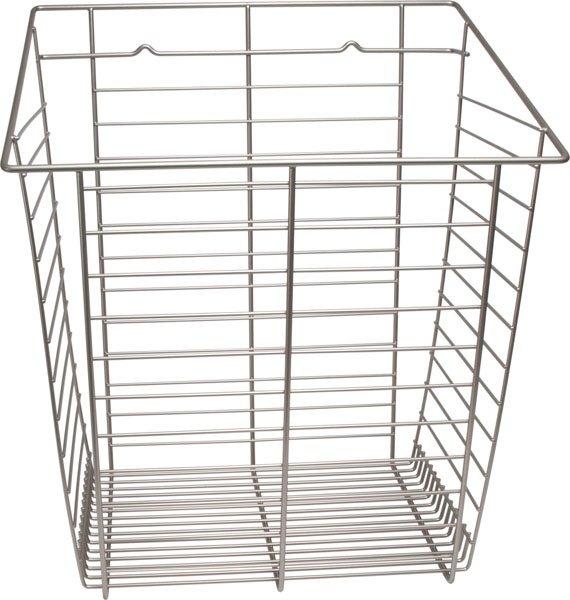Tilt-Out Hamper Basket, Satin Nickel