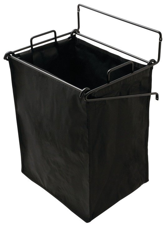 Tilt-Out Hamper, Black – with 1 large removable nylon bag