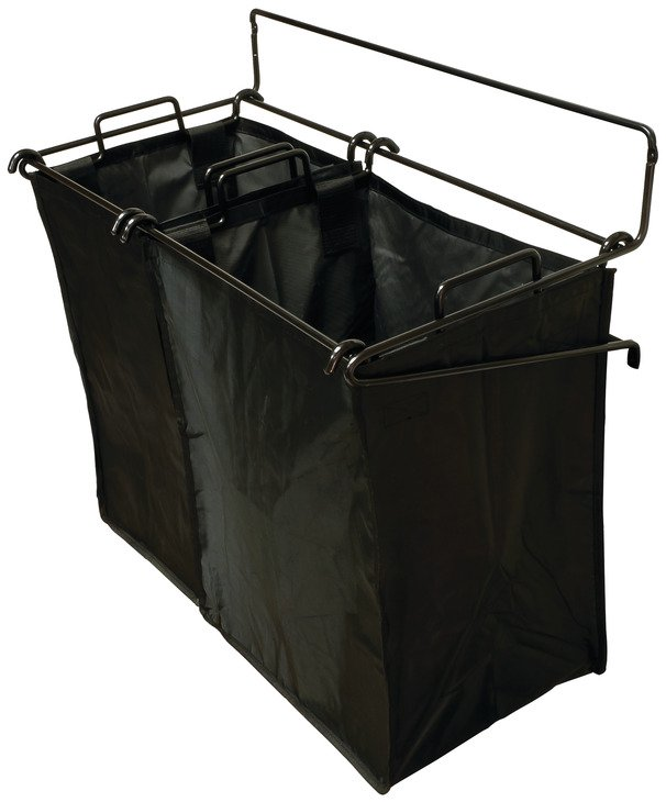 Tilt-Out Hamper, Black – with 1 small and 1 large removable nylon bag