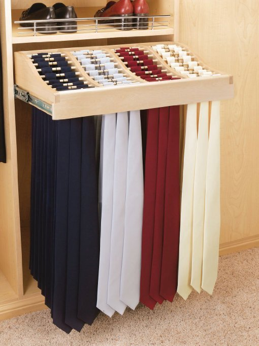 Tie Rack Pull Out, Maple