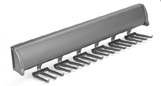 Slide-Out Synergy Tie Rack, Slate