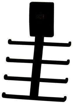 Wall Mount Synergy Tie Rack, Oil Rubbed Bronze