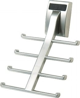 Wall Mount Synergy Tie Rack, Matte Aluminum