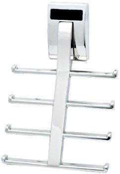 Wall Mount Synergy Tie Rack, Polished Chrome