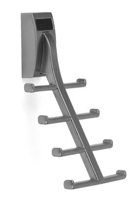Wall Mount Synergy Tie Rack, Slate