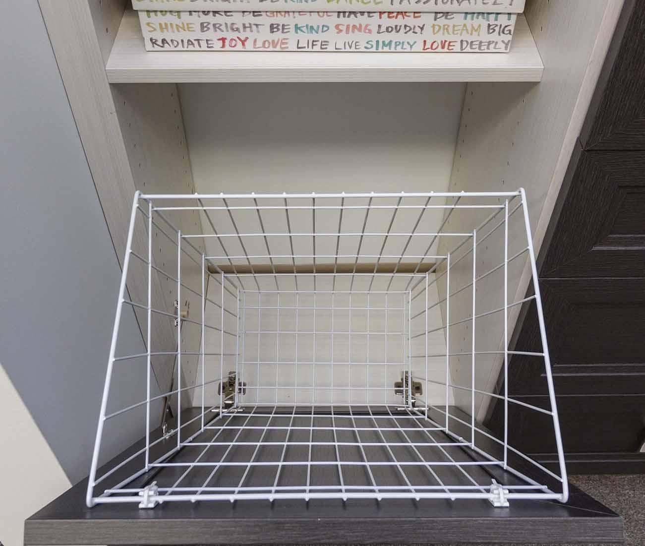 Tilt-Out Hamper Basket, White