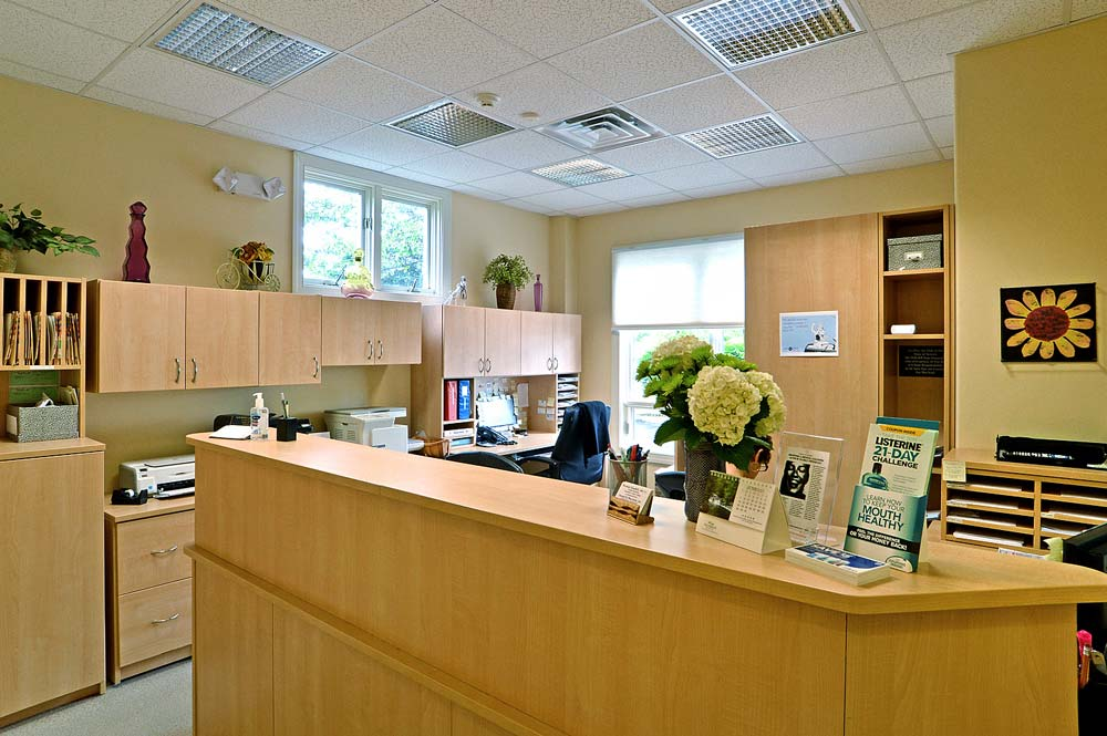 Medical and dental office with custom built reception area