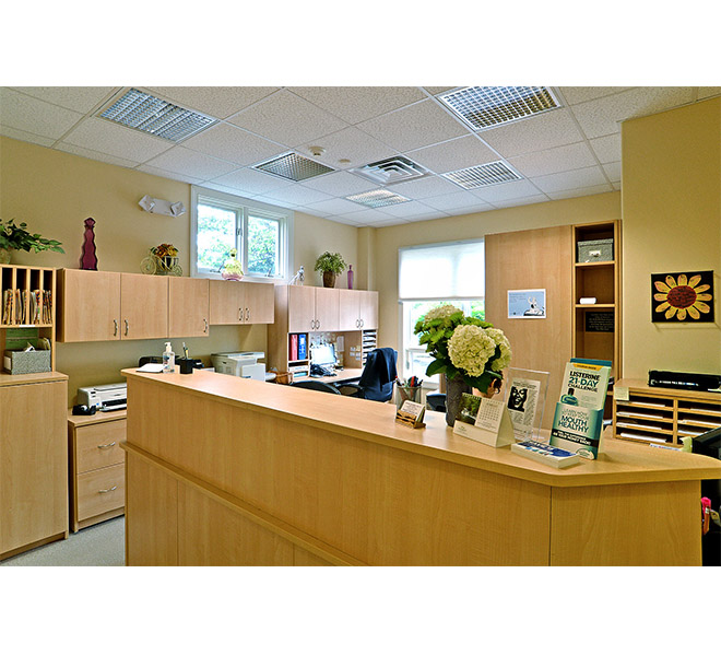 Dental and medical office reception area