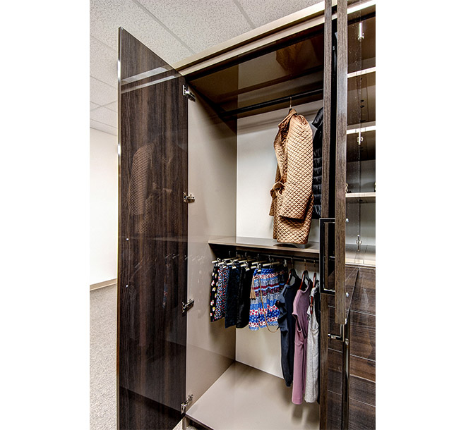 Customized double hanging storage for organizing various clothing items