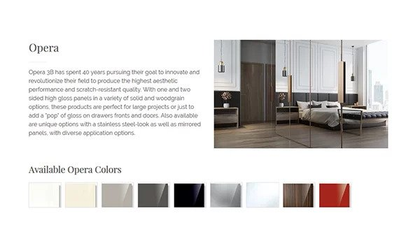 The Closet Works color palette website page