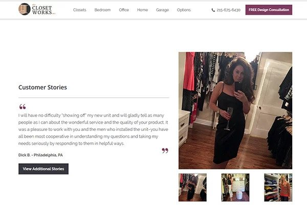 The Closet Works featured stories page