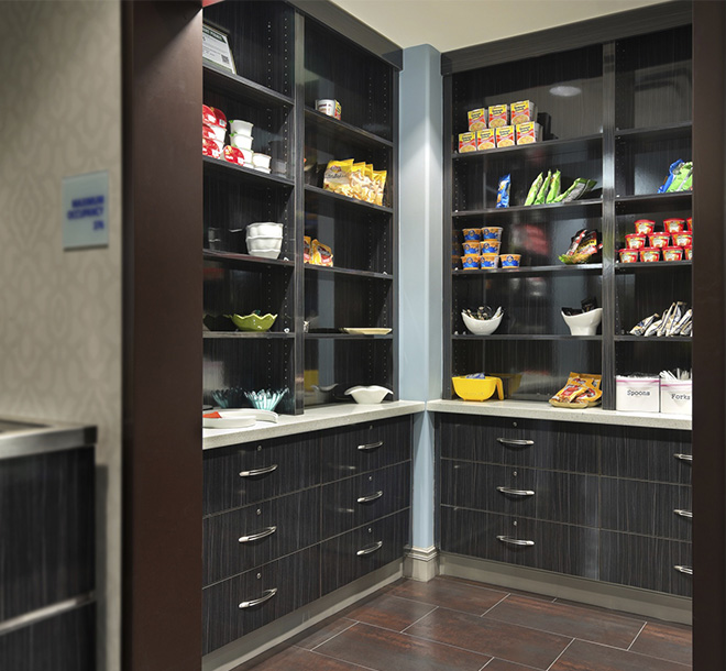 Pantry finished in Wilsonart color