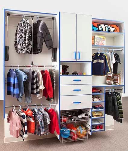 Organized kids and child's reach-in closet