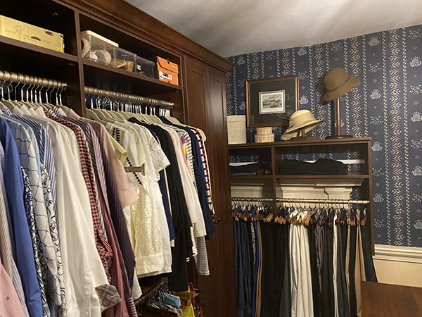 Historical house with organized custom closet