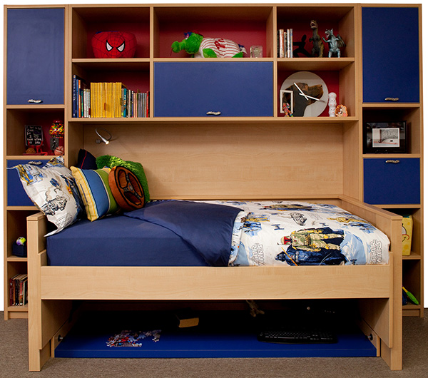 Hdden bed with storage for kids