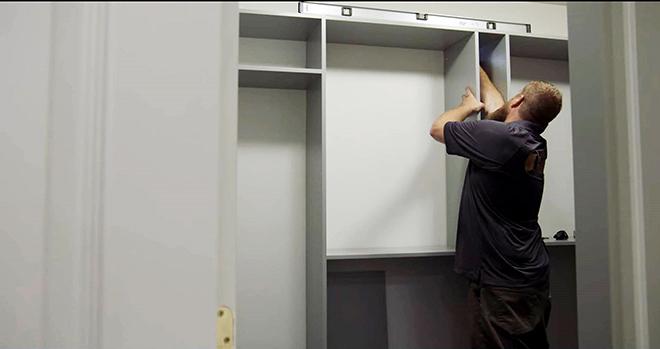 Closet Works Inc. installing organization system