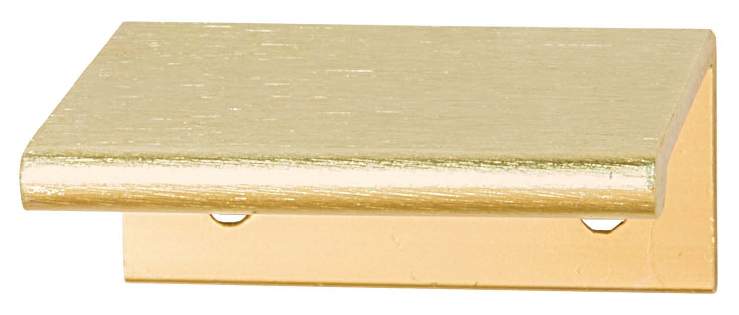 Platform Handle, Brushed Brass, 50mm