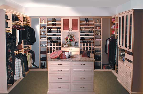 Woman's walk-in closet