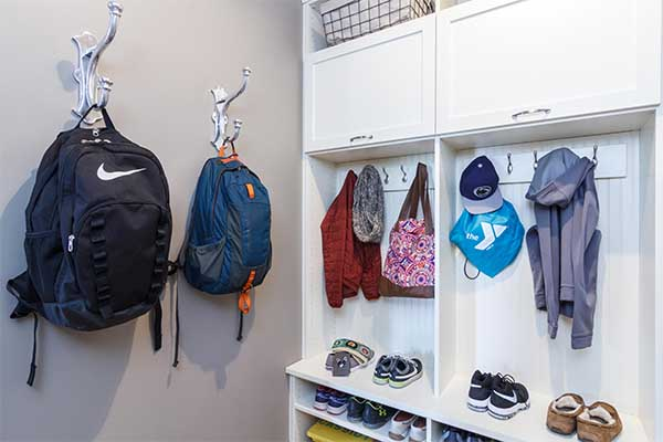Nealty organized mudroom