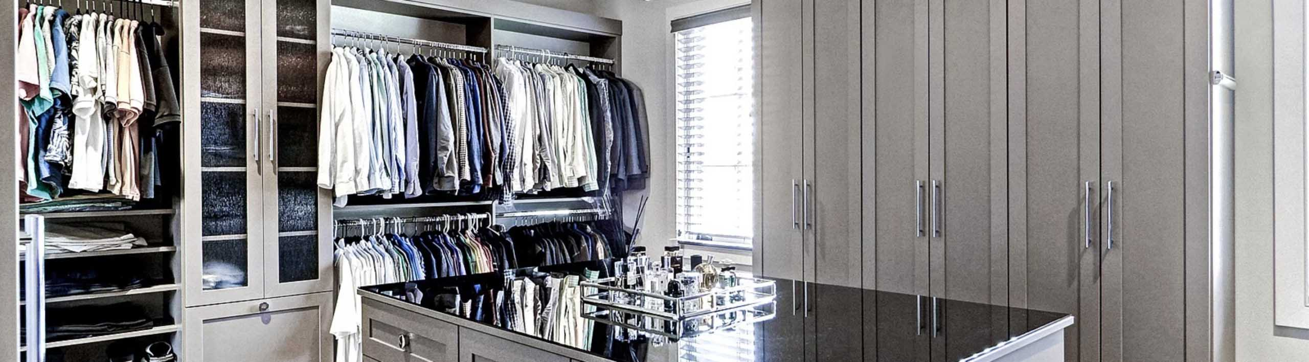 Walk In Closet with center island