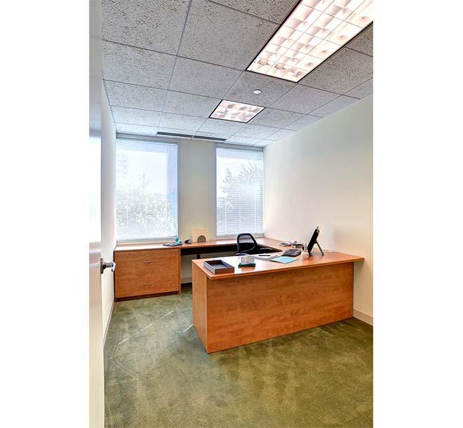 Custom built desk with extended work surface