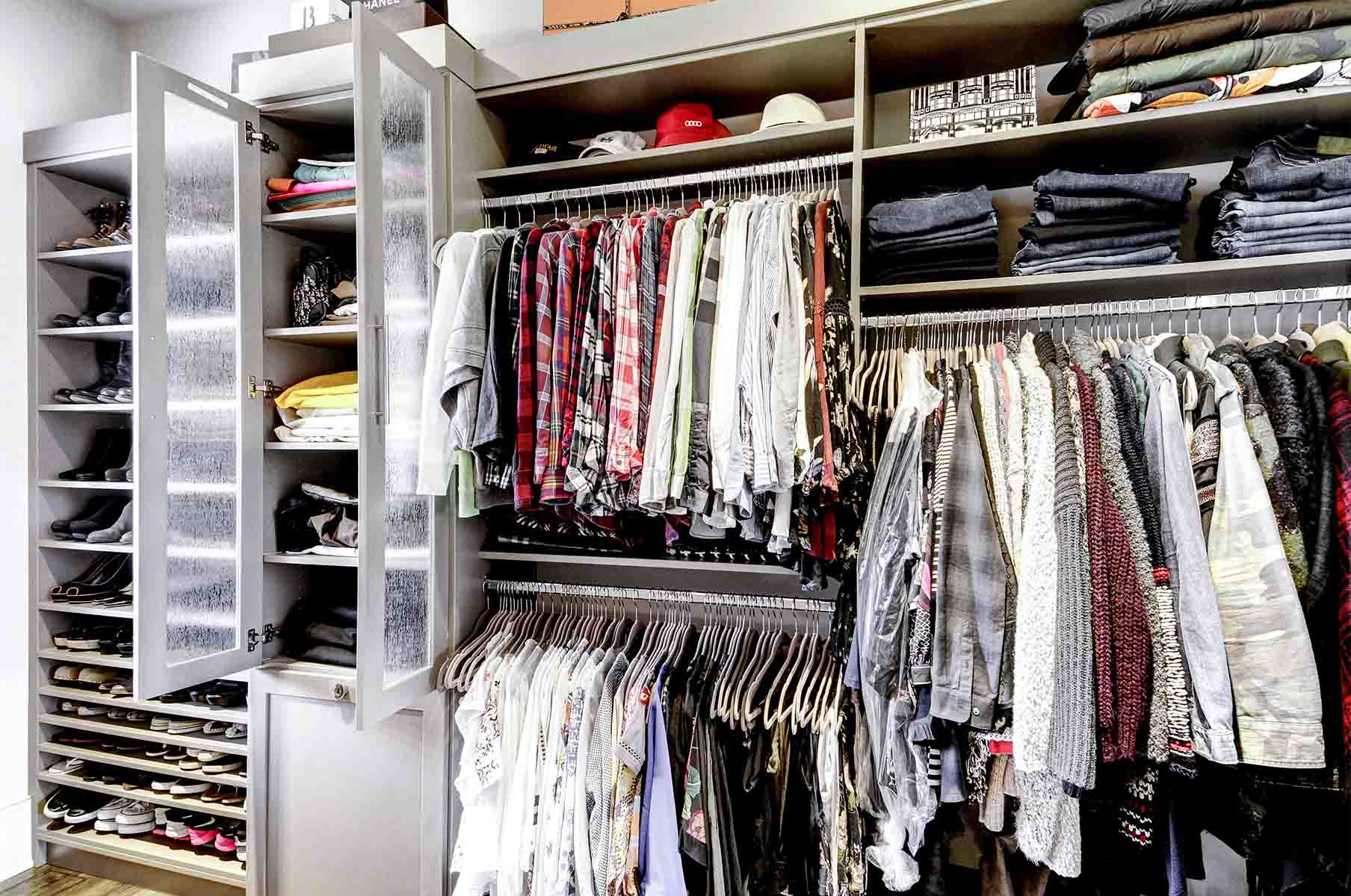 Clothing organized and tidy