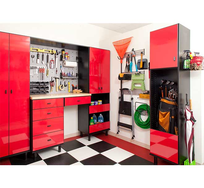 Garage organization system with wall system