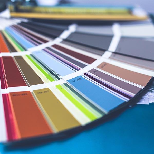 Color palette samples