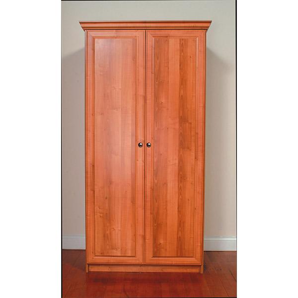 Cabinet with bi-fold swing doors