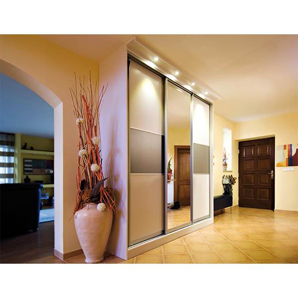 Free standing wardrobe with custom built sliding doors