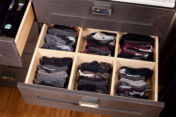 Drawer inserts organizing socks