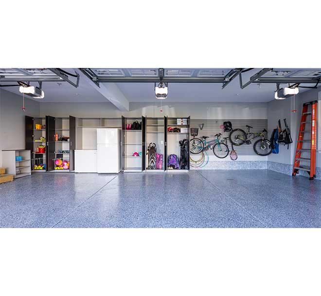 Custom built garage organization system