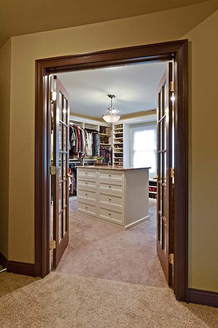Walk-in closet with French Doors
