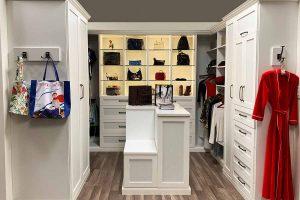 White walk in closet organizer in Drexel Hill, PA