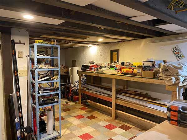 After shot organized basement