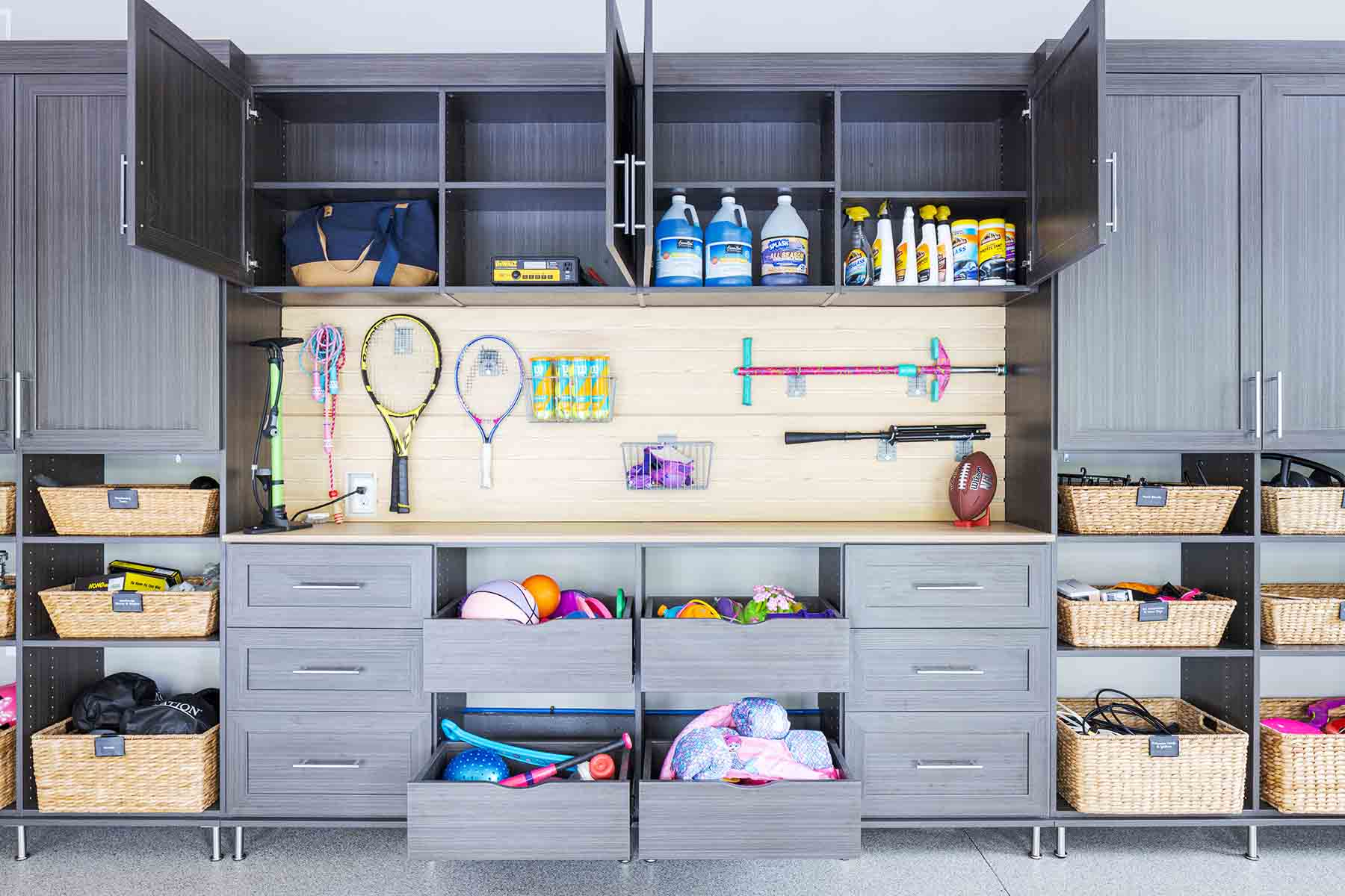 Organized and tidy garage