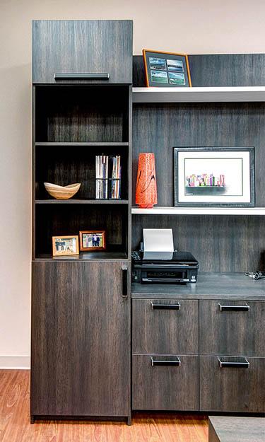 Custom home office cabinet