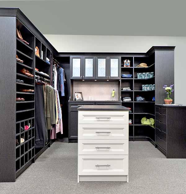 Walk-in closet design finished in latitude north