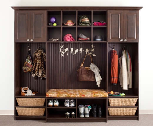 mudroom unit optimized for space and storage
